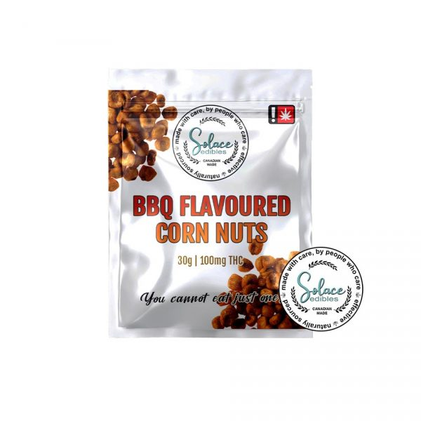 Solace Edibles BBQ Flavoured Corn Nuts
