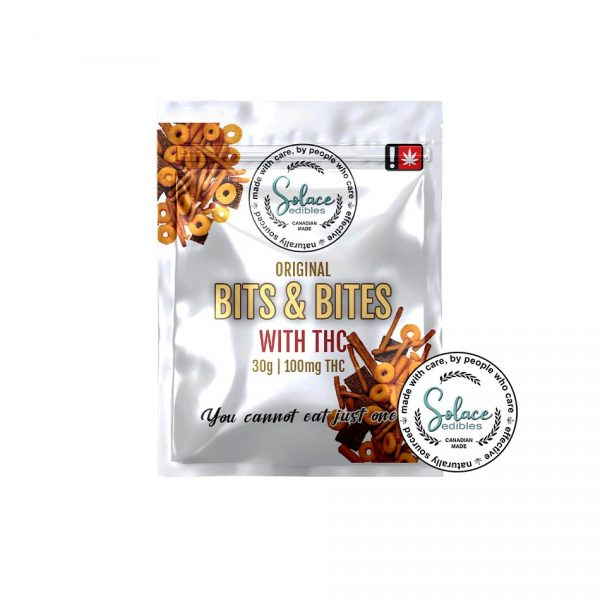 Solace Edibles Bits and Bites with THC